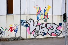 Graffiti / Wandmalerei - Bürogebäude, Verwaltungsgebäude in der City Süd in Hamburg Hammerbrook.