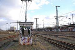Reste des Güterbahnhofs Oberhafen in der Hamburger Hafencity.