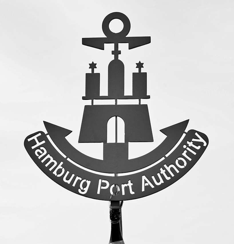 """bildarchivhamburg foto """"hamburg wappen  hambug port"""