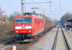 Güterzug auf der Strecke der Güterumgehungsbahn bei Hamburg Barmbek.
