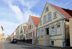 Einzelhäuser / Wohnhäuser, Dammstrasse / Marktstrasse von Bergen auf Rügen.