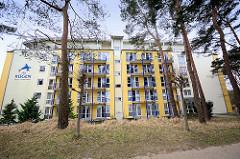 Ferienanlage - Hotelkomplex an der Strandpromenade von Binz auf Rügen.
