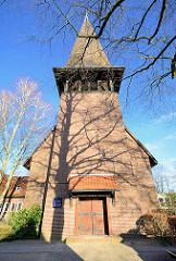 St. Jürgen - Kirche in Hamburg Langenhorn - geweiht 1939; Architekt Gerhard Langmaack.