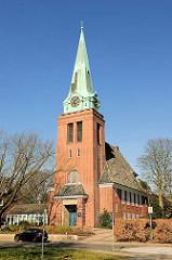 Gross Flottbeker Kirche, eingeweiht 1912 - Architketurbüro Raabe & Wöhlecke.