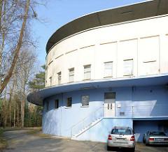 Abgerundete Endgebäude - Kdf-Ferienanlage Prora Ortsteil von Binz auf Rügen, Ostsee.