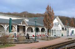 Historische Architektur vom Bahnhof Ostseebad Binz der Rügenschen Kleinbahn -