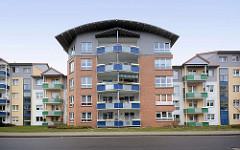 Moderne Neubauten - Seebad Binz / Rügen.