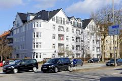 Wohnhäuser an der Sievekingallee in Hamburg Hamm.