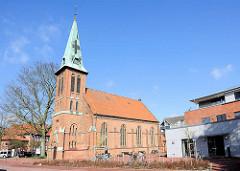 St. Paulus Kirche in Buchholz; erbaut 1892 - Architektur typischer norddeutscher Backsteinbau.