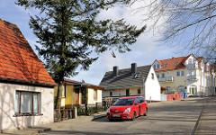 Wohnhäuser in der Breitsprecherstrasse von Bergen auf Rügen.