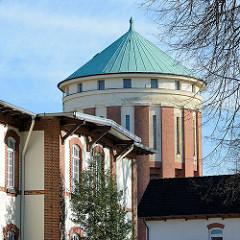 Restaurierte historische Architektur, Krankenhaus Ochsenzoll /  Asklepios Klinik Nord-Ochsenzoll; Wasserturm.