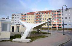 Hyparschale / Betonschale - Versuchsbau des Binzer Konstrukteur und Baumeister Dipl. Ing Ulrich Müther. Erbaut 1967, Schalendicke 5,5cm.