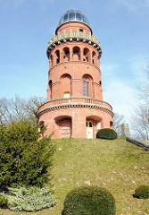 Ernst-Moritz-Arndt-Turm in Bergen auf Rügen; erbaut 1877. Ernst Moritz Arndt war ein deutscher Schriftsteller, Historiker, Freiheitskämpfer und Abgeordneter der Frankfurter Nationalversammlung.