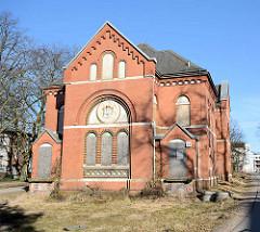 Leerstehende, entwidmete Anstaltskirche der Ochsenzoller Anstalten / Irrenanstalt - Allgemeines Krankenhaus Ochsenzoll.