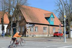 Marktplatz von Wedel - historisches Wohnhaus; Kulturdenkmal.