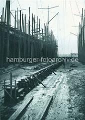 Kiellegung auf der Hamburger Schiffswerft Blohm & Voss in Hamburg Steinwerder.