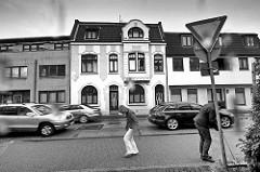 Schwarz Weiss Foto - Rolandstrasse in Wedel.