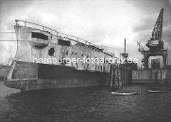 Bau des Kriegsschiffs, Grosser Kreuzer SMS Scharnhost auf der Werft Blohm & Voss in Hamburg.