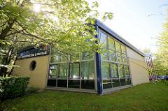 Gebäude Kundenzentrum Lokstedt, Garstedter Weg in Hamburg Niendorf.