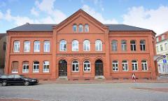 Backsteingebäude in der Wallstrasse, Dömitz an der Elbe - erbaut um 1900.