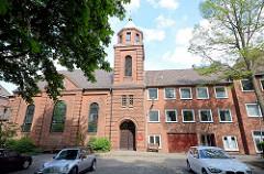 Zionskirche der Zionsgemeinde in Hamburg Hohenfelde, erbaut 1915. Selbständige Evangelisch-Lutherische Kirche.