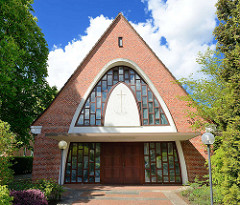 Neuapostolische Kirche im Basselweg - Hamburg Stellingen, erbaut 1959.