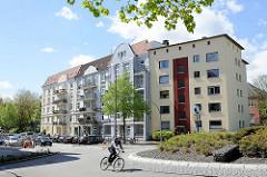 Kreuzung / Kreisverkehr Eidelstedter Weg, Lenzweg, Methfesselstrasse / Grenze der Hamburger Stadtteile Eimsbüttel und Stellingen.