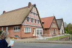 Fachwerkhäuser Kleine Seite in Borstel / Jork im Alten Land.
