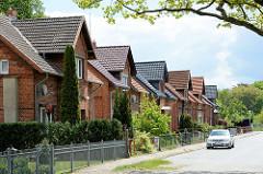 Einzelhäuser in gleicher Bauform - Architekturbilder aus Dömitz.