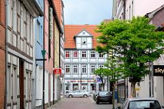 Blick durch die Junkerstrasse zur Langenstrasse in Lüchow.