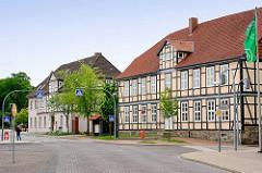 Historische Gebäude in Lüchow - ehem. Amtsgerichtsgericht und Amtshaus in der Theodor Körner Strasse.