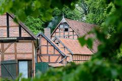 Fachwerkhäuser - Bauernhäuser im Wendland; Lübeln, Gemeinde Küsten.
