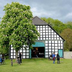 Fachwerkgebäude, geöffnet zur Kulturellen Landpartie in Luckau / Wendland.