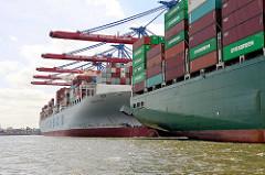 Containerschiffe am HHLA Container Terminal Tollerort in Hamburg Steinwerder.
