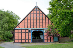 Fachwerkhaus - Bauernhaus / Rundlingsdorf  im Wendland; Lübeln, Gemeinde Küsten.