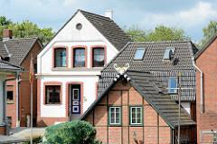 Wohnhäuser in Hamburg Finkenwerder.