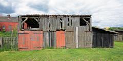 Verfallene Holzscheune - Fotos aus dem Wendland.