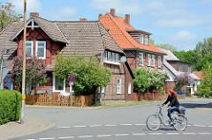 Historische Architektur - Fachwerkgebäude, Wohnhäuser in der Schützenstrasse von Dannenberg.