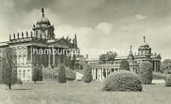 Alte Ansicht - Communs / Neues Palais in Potsdam, erbaut 1769; Wirtschaftsgebäude.