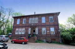 Historisches Gerichtsgebäude beim Amtsgericht Dannenberg - kleines Obergericht Dannenberg, an dem Gottlieb Planck 1855-59 wirkte; Mitarbeit am Bürgerlichen Gesetzbuch BGB.
