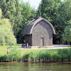 Eremitage, Einsiedelei am Jungfernsee, Neuer Garten Potsdam - Pavillon aus Holz ohne Fenster, Baumeister Carl Gotthard Langhans / J. G. Brendel, 176..