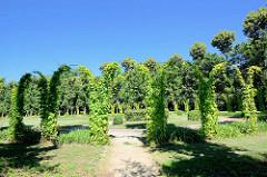 Hippodrom Gartenanlage beim Schloss Charlottenhof Park Sanssuci / Potsdam.