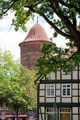 Kuppel vom Waldemarturm in Dannenberg -  Überrest einer mittelalterlichen Burg und späteren Schlosses Dannenberg; Wahrzeichen der Stadt.