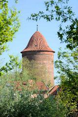 Waldemarturm in Dannenberg -  Überrest einer mittelalterlichen Burg und späteren Schlosses Dannenberg; Wahrzeichen der Stadt.