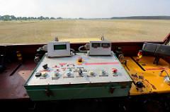 Führerstand der Seilwinde für den Start der Segelflugzeuge auf dem Flugplatz Kyritz.