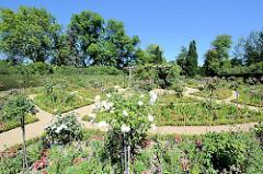 Gartenanlage beim Schloss Charlottenhof Park Sanssuci / Potsdam.