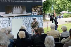 Ludwig Baumann, Vorsitzender Bundesvereinigung Opfer der NS-Militärjustiz e.V. bei der Auftaktveranstaltung zum Baubeginn des Deserteurdenkmals.