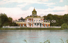 Historische Darstellung vom Marmorpalais am Heiligensee in Potsdam.