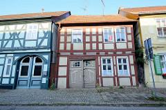 Alte Häuser - historische Fachwerkarchitektur in Wusterhausen, Dosse.