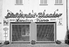 Gebäude vom Lichtspiel-Theater in Wusterhausen, Lindenkino - 2 D / 3 D.